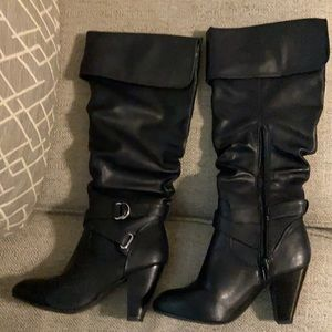 Rampage Ellesandra Black Smooth Boots